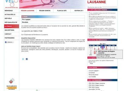 Défi-Vélo 2012 Lausanne-Genève
