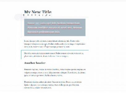 Bienvenue dans l'éditeur Gutenberg