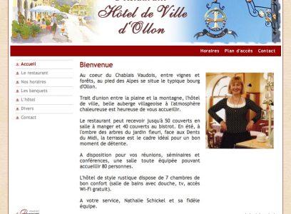 Restaurant, hôtel d'Ollon