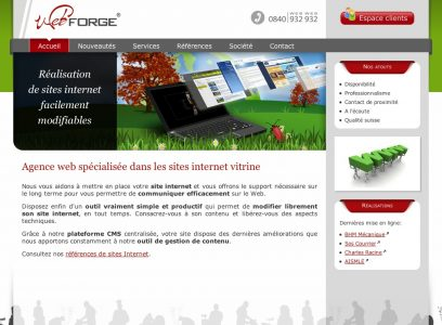 Les sites WEBFORGE